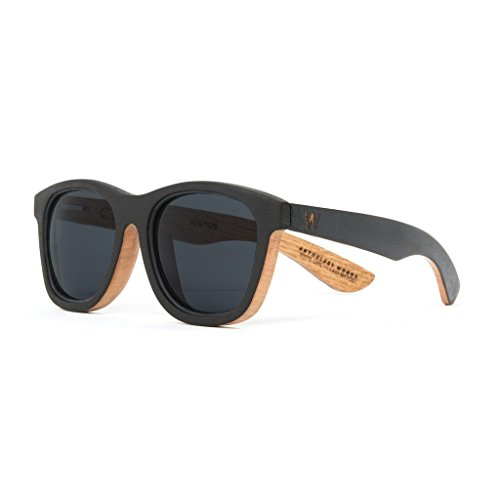 American Made Recycled Oak Black Wooden Sunglasses for Men - Woodzee x Anthology Woods - Recycled Wood Sunglasses