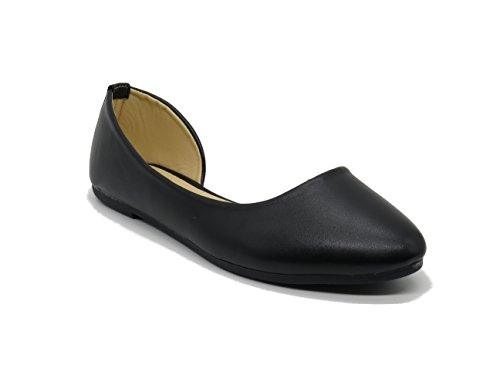 Blue Berry EASY21 Womens Casual Flats Ballet Fashion Shoes Faux Leather