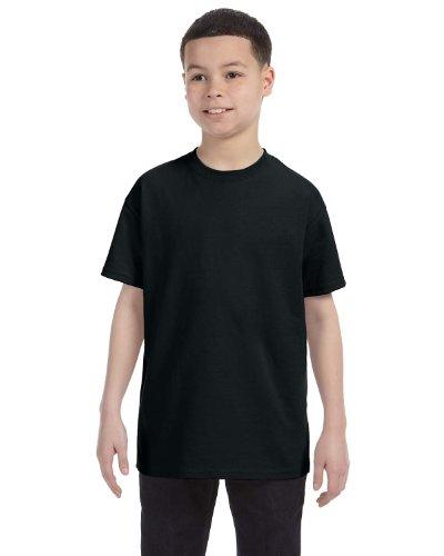 Jerzees Youth 5.6 oz. 50/50 Heavyweight Blend T-Shirt, Black, XS (Jerzees Heavyweight Blend Youth)
