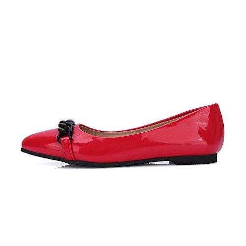 Solides Talons Odomolor Pompes Rouge Bas Des Pointu pu Chaussures À 36 Femmes Bout Enfiler À 7qTRvqnWd