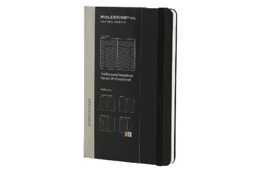 Moleskine Folio Professional Notebook, Large, Black, Hard Cover (5 x 8.25)