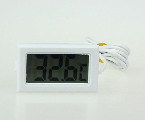 Bestpriceam® Mini Digital LCD High Temperature Thermometer with Probe Celsius White