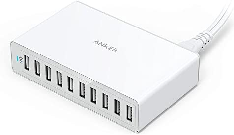 Anker 60W 10-Port USB Wall Charger, PowerPort 10 for iPhone Xs/XS Max/XR/X/8/7/6s/Plus, iPad Pro/Air 2/Mini, Galaxy S9/S8/S7/Edge/Plus, Note 8/7, LG, Nexus, HTC and More - 10145785 , B00YRYKEYM , 285_B00YRYKEYM , 1317447 , Anker-60W-10-Port-USB-Wall-Charger-PowerPort-10-for-iPhone-Xs-XS-Max-XR-X-8-7-6s-Plus-iPad-Pro-Air-2-Mini-Galaxy-S9-S8-S7-Edge-Plus-Note-8-7-LG-Nexus-HTC-and-More-285_B00YRYKEYM , fado.vn , Anker 60W 10-P