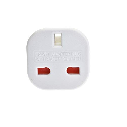 Portable Standard Conversion Plug UK Plug to EU Plug Conversion Adapter Converter Plug Travel Adapter 1PC White