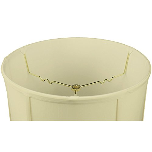 HomeConcept 141617DRES Egg Shell Shantung Drum Lampshade with Brass Spider Fitter by Home Concept, 14 x 16 x 17