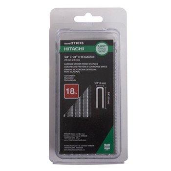 Hitachi 21101S Hitachi 21101S 3/4-in x 1/4-in Crn 18G EG Staples, (Hitachi Staples)