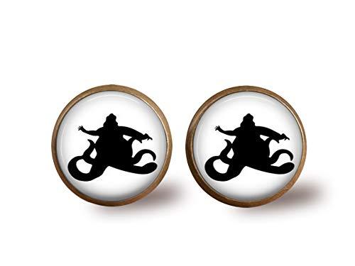 Ursula Silhouette Stud Earrings- Bronze