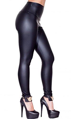 SOHO GLAM High Waisted Faux Leather Leggings (Plus (Black Leather Soho)