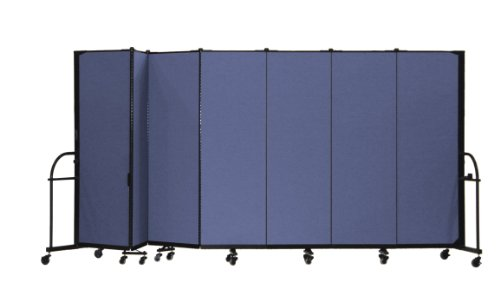 Screenflex HFSL607-DS Heavy Duty Portable Room Divider, 7 (Screenflex Portable Room Partition Dividers)