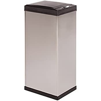 Amazon.com: Kamenstein Rectangle Stainless Steel Trash Can ...