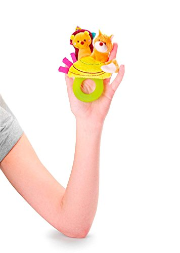 Lilliputiens Simon Teething Rattle (3 Toys in One - Finger Puppet, Teether and Pacifier Holder) by Lilliputiens (Image #1)