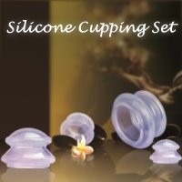 4 Cup Premium Transparent Silicone Cupping Set for Chinese C
