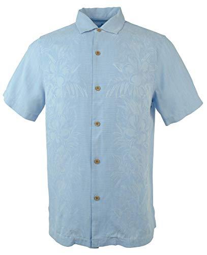 (Tommy Bahama Men's Kamari Border Camp Shirt -CB-S Chambray)