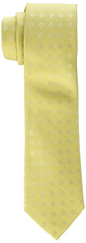 Calvin Klein Men's Cross Medallion Tie, Yellow, One Size