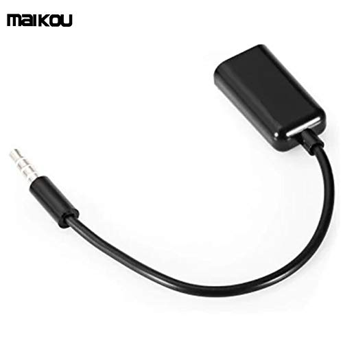 Smartlove1P Maikou 3.5mm Audio Cable AUX Stereo Splitter 3.5mm Male to 2 Port Female