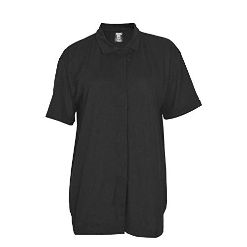 Post Op Easy Open Breast Surgery & Mastectomy Recovery Top with Pockets & Fasteners for Drains Black