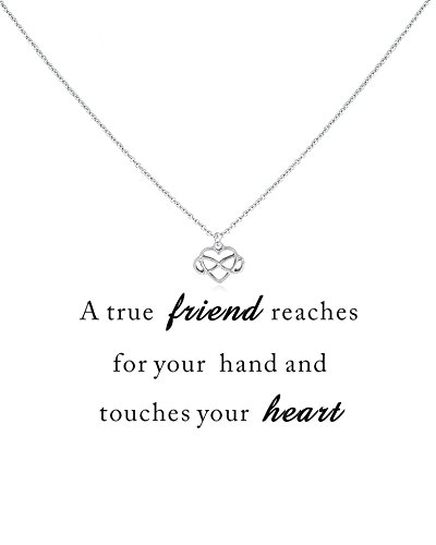 Daycindy Best Friend Infinity Love Pendant Necklace for Women, Golden