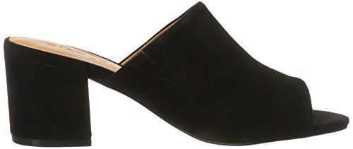 Bianco Suede Mule Sandal Jfm17 - Sandalias Mujer negro