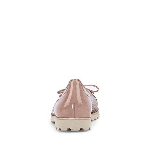 Gabor 83.100-65 Ballerina Da Donna In Pelle Leggera Profilo Suola Inserto In Tessuto Rosé