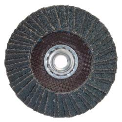 30/Pk Norton Metal R828 4-1/2 in x 7/8 in 40 Grit Type 27 Flap Disc Fiberglass Zirconia Alumina // 66254437004