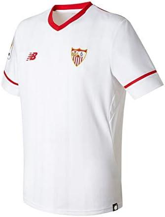 New Balance Sevilla FC MC Primera Equipación 2017-2018 Niño, Camiseta, Blanco, Talla SB: Amazon.es: Deportes y aire libre
