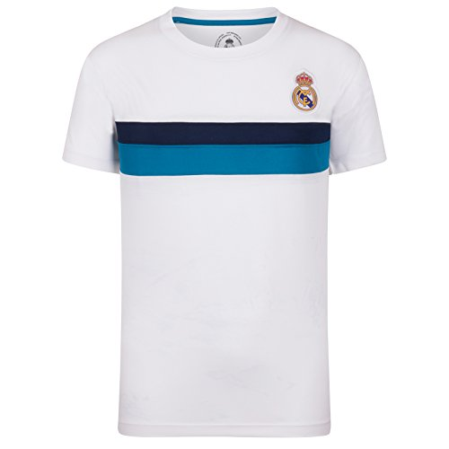 Real Madrid – Camiseta Oficial para Entrenamiento – para niño – Poliéster