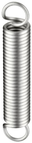 - Extension Spring, 302 Stainless Steel, Inch, 0.36