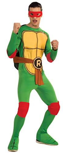 Nickelodeon Ninja Turtles Adult Raphael and Accessories, Green, Standard Costume -