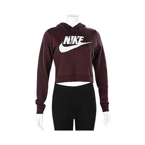 70e3b617 Amazon.com: Nike Womens Rally Hoodie Crop Top Sweatshirt: Clothing