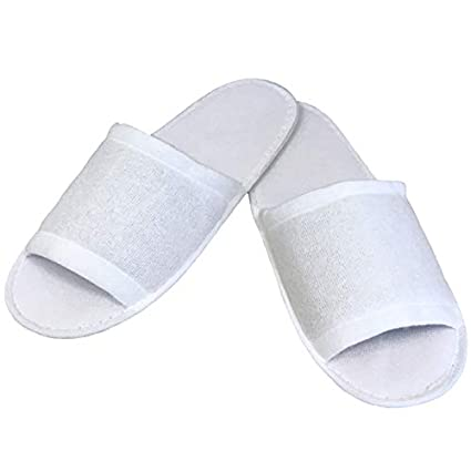 27965245bf6f Linens Limited Open Toe Towelling Spa Slippers