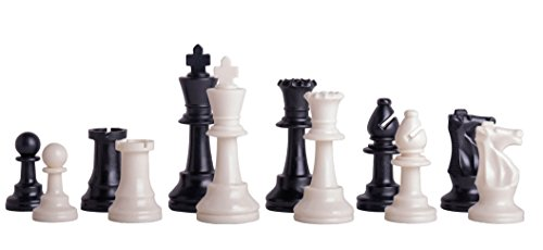 US Chess Federation's Triple Weighted Plastic Chess Pieces - 3.75