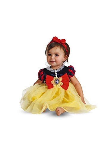 Halloween Costumes White (Disguise My First Disney Snow White Costume, Red/Blue/Yellow, 12-18)