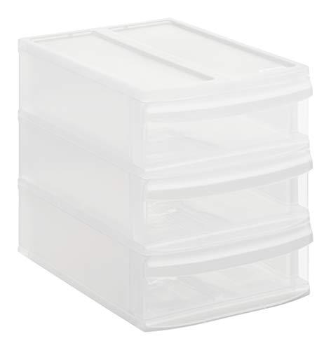 Rotho Systemix 1146096096 - Cajon archivador de plastico, tamano S (26,5 x 19,2 x 23,3 cm)
