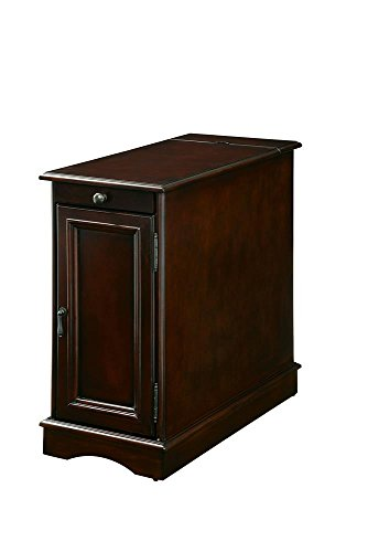 Bourchier 12 inch Wide Chair Side Table with Usb in Cherry