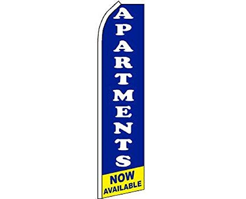 ALBATROS Apartments Now Available Swooper Super Feather Advertising Marketing Flag for Home and Parades, Official Party, All Weather Indoors -