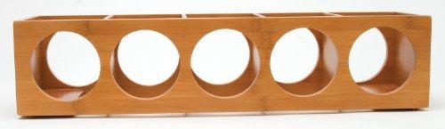 Lipper International 8305 Bamboo Wood Stackable 5-Bottle Wine Rack, 20-3/4'' x 5-3/8'' x 4-3/4'' by Lipper International (Image #1)