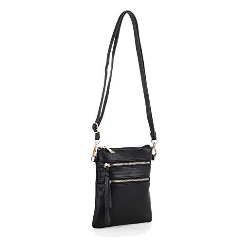 Isabelle Functional Small Women's Crossbody Shoulder Bag (Black)