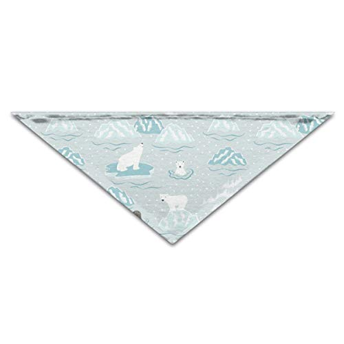 (OLOSARO Dog Bandana Polar Bear Triangle Bibs Scarf Accessories for Dogs Cats Pets)