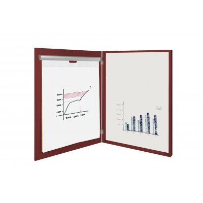 MasterVision Basic 2-in-1 Platinum Pure White Conference Cabinet, 40x29 Inch, Cherry Finish (CAB02020230) by MasterVision by Bi-silque
