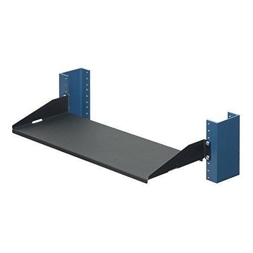 RackSolutions 1U 2-Post Relay 19 Inch Cantilever Rack Shelf Cantilever 7 Inch Depth Flanges Down