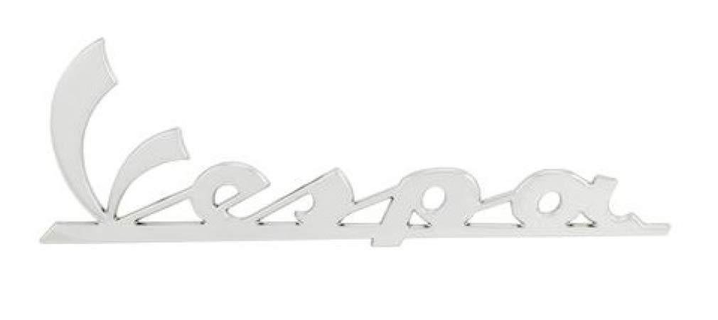 673838 Piaggio VespaVespa Badge Emblem Side panel Chrome for Et2 Et4 Lx Lxv S Gt Gts Gtv Sprint Primavera 50 125 150 200 250 300 Super side Cowl 6 inch 673315 656220 57357R 620529
