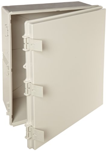 BUD Industries NBF-32034 Plastic ABS NEMA Economy Box with Solid Door, 19-43/64'' Length x 15-47/64'' Width x 7-55/64'' Height, Light Gray Finish by BUD Industries