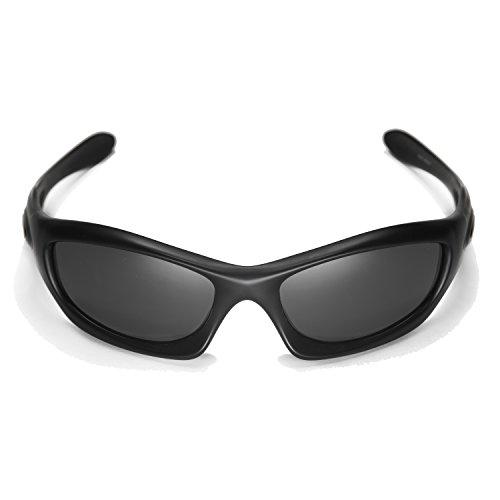 bee7e6fabc Walleva Replacement Lenses for Oakley Monster Dog Sunglasses -Multiple  Options Available (Black - Polarized