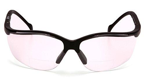 (Pyramex SB1810R20T Venture II Readers Safety Glasses, Clear + 2.0 Anti-Fog Lens, Black)