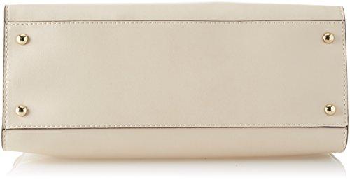 Trussardi Jeans Bluebell, Borsa a Spalla Donna, 36x24.5x14.5 cm Bianco (Off White)