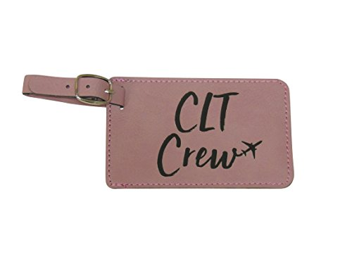 - Charlotte Crew Base Luggage Tags for Flight Attendants, Set of Two, CLT Base, Set of Two (Pink)