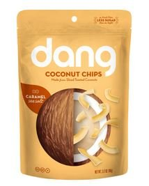 Dang Coconut Chips, Sea Salt Caramel, 3.2 oz, (12 count) by Dang foods LLC.
