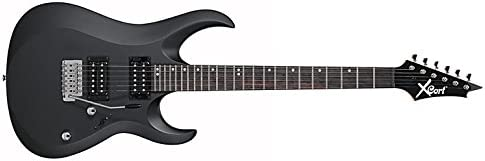 Cort X-1 BKS, 6 Strings Electric Guitar, Right-Handed, Black Satin, without case