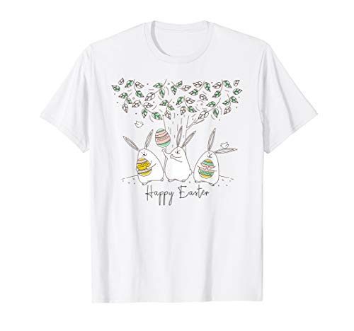 Happy Easter T Shirt Women - Easter Hoppy Bunny Fun T-shirt