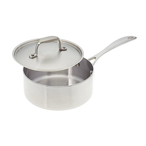 (American Kitchen Cookware 2-quart Stainless Steel Saucepan with Fitted Lid; Tri-Ply Stainless Steel; Manufactured in USA )